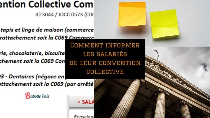 comment informer les salariés de leur convention collectiveles salarié